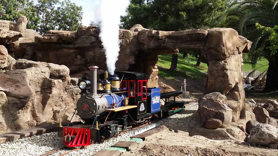 Backyard Railroad Locomotives home page large-scale ride-on trains | oak glen, ca
